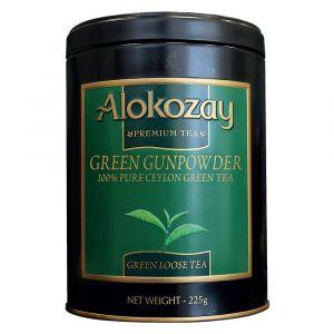 Alokozay Gunpowder Green Tin Tea 225gms