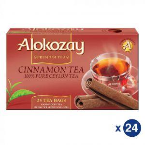 Cinnamon Tea - 25 Tea Bags In Foil Wrapped Envelopes X Pack of 24