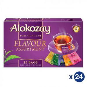 Flavour Assortment Tea - 25 Tea Bags In Foil Wrapped Envelopes X Pack of 24