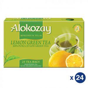 Lemon Green Tea - 25 Tea Bags In Foil Wrapped Envelopes X Pack of 24