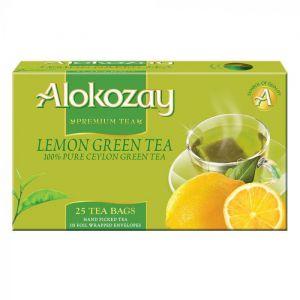 Lemon Green Tea - 25 Tea Bags In Foil Wrapped Envelopes