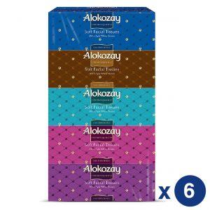 Alokozay Soft Facial Tissues 2Ply x 200 sheets - Pack of 30