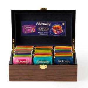 Alokozay Wooden Tea Box 6 Compartments