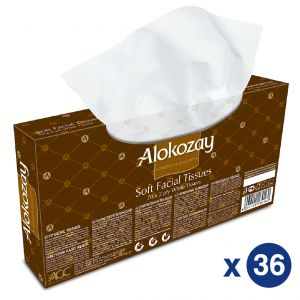 Alokozay Soft Facial Tissues 2Ply x 70 sheets - Pack of 36