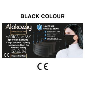 MEDICAL FACE MASK - BLACK - 50 PCS