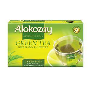 Alokozay Green Tea Foil-Wrapped Envelopes 25 bags