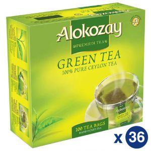 Alokozay Green Tea 100 Bags 36 Master Carton