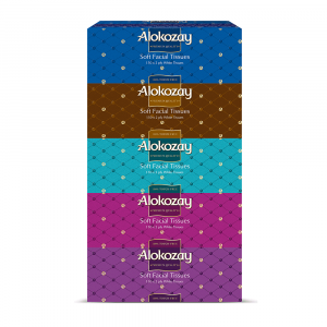 Alokozay Soft Facial Tissues 2Ply x 150 sheets - Pack of 5