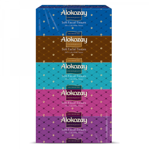 Alokozay Soft Facial Tissues 2Ply x 200 sheets - Pack of 5