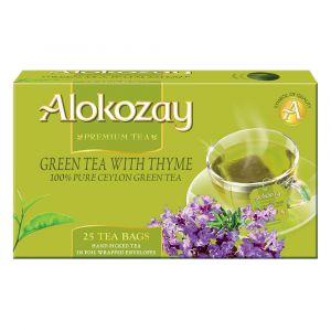Alokozay Green Tea With Thyme 25 bags