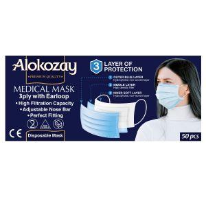 MEDICAL FACE MASK BLACK 50 PCS - 3 PLY - PACK  OF 12