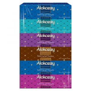 Alokozay Soft Facial Tissues 2Ply x 100 sheets - Pack of 6