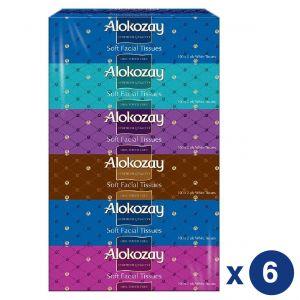 Alokozay Soft Facial Tissues 2Ply x 100 sheets - Pack of 36