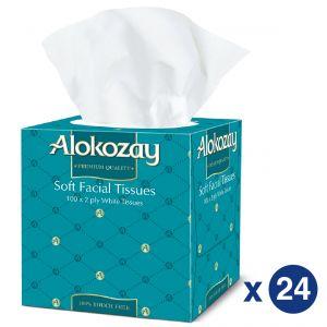Alokozay BTQ Tissues 2Ply x 100 Sheets Pack Of 24