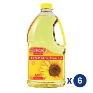 Alokozay Sunflower oil 1.8L Pack Of 6
